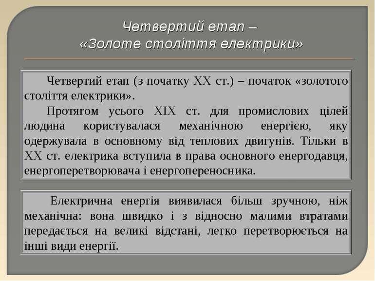 Четвертий етап – «Золоте століття електрики» Перечинський професійний ліцей