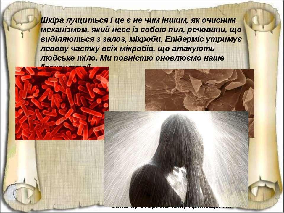 Шкіра лущиться і це є не чим іншим, як очисним механізмом, який несе із собою...