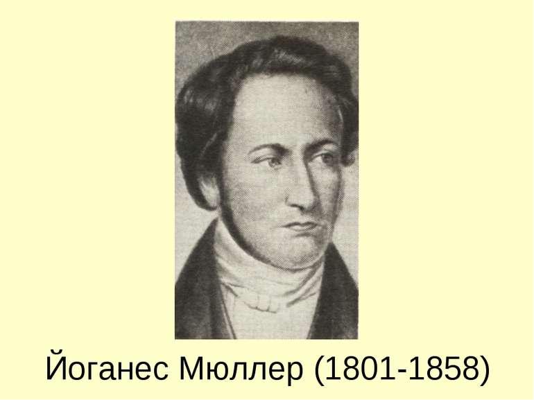 Йоганес Мюллер (1801-1858)