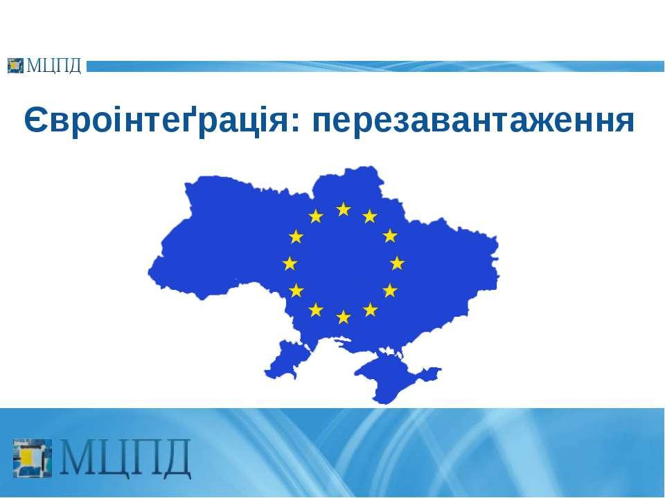Євроінтеґрація: перезавантаження