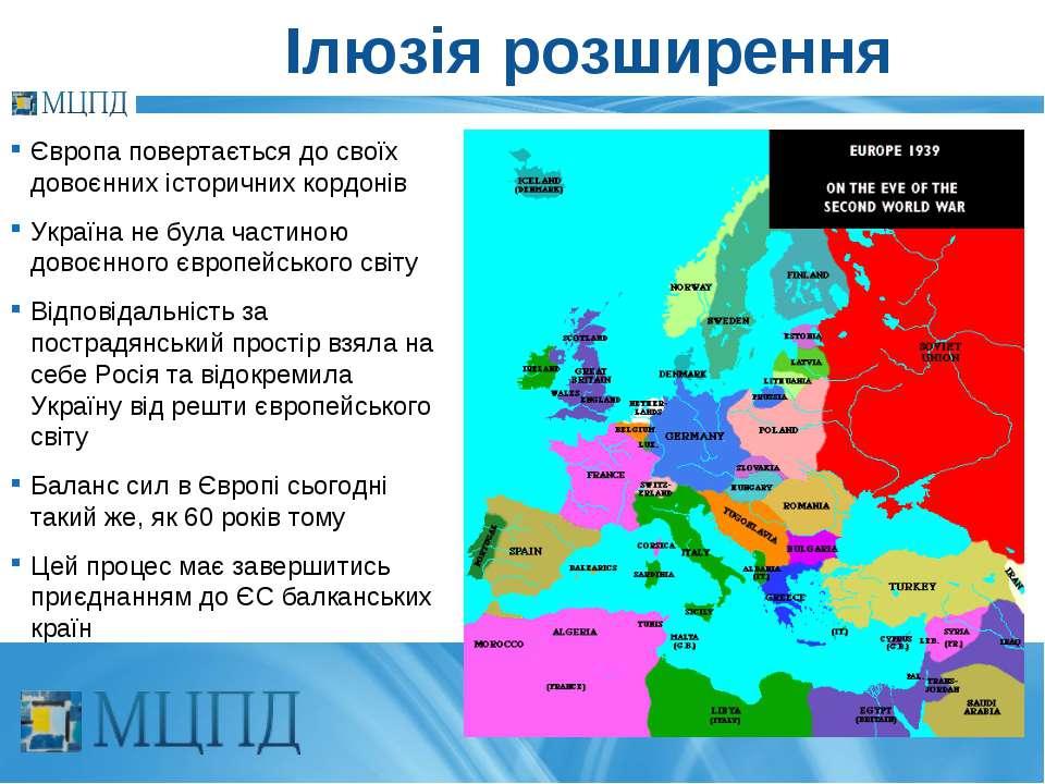 Ілюзія розширення Європа повертається до своїх довоєнних історичних кордонів ...