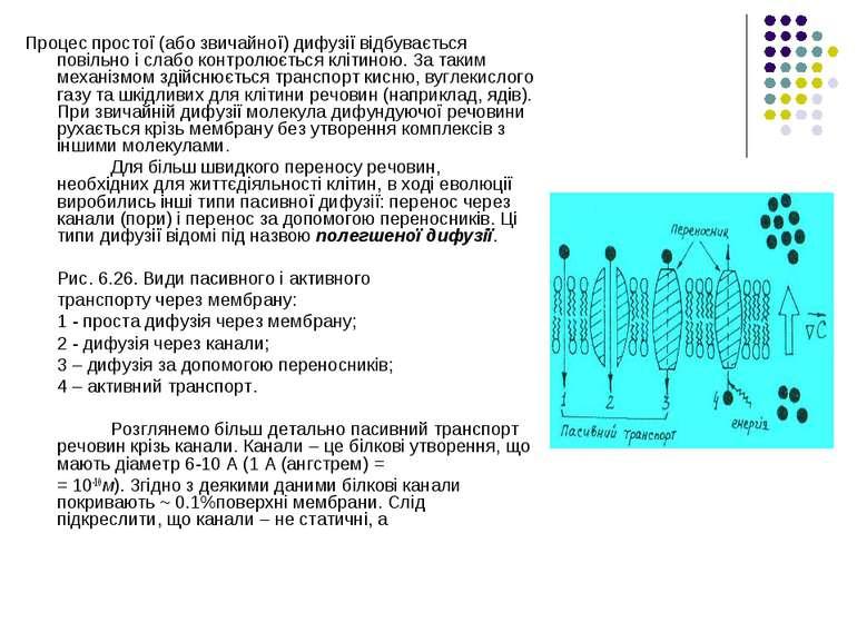 Процес простої (або звичайної) дифузії відбувається повільно і слабо контролю...