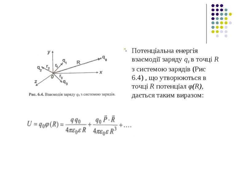 Потенціальна енергія взаємодії заряду q0 в точці R з системою зарядів (Рис 6....