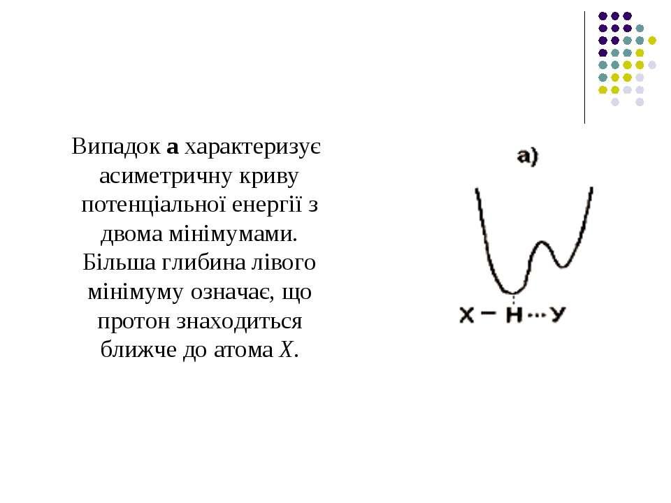 Випадок а характеризує асиметричну криву потенціальної енергії з двома мініму...