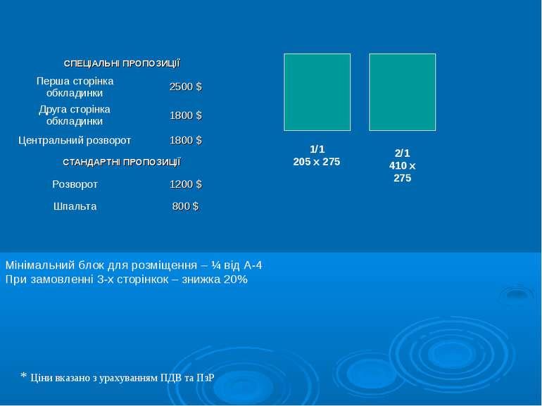 1/1 205 х 275 2/1 410 х 275 * Ціни вказано з урахуванням ПДВ та ПзР Мінімальн...