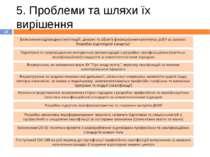5. Проблеми та шляхи їх вирішення *