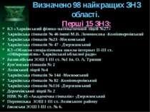Визначено 98 найкращих ЗНЗ області. Перші 15 ЗНЗ: КЗ «Харківський фізико-мате...