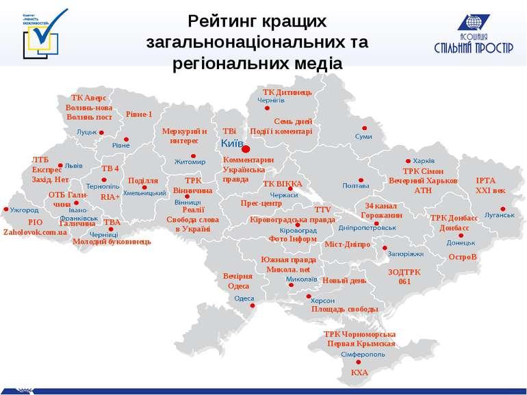 Рейтинг кращих загальнонаціональних та регіональних медіа ТВі Комментарии Укр...