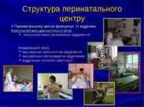 Структура перинатального центру У Перинатальному центрі функціонує 10 відділе...
