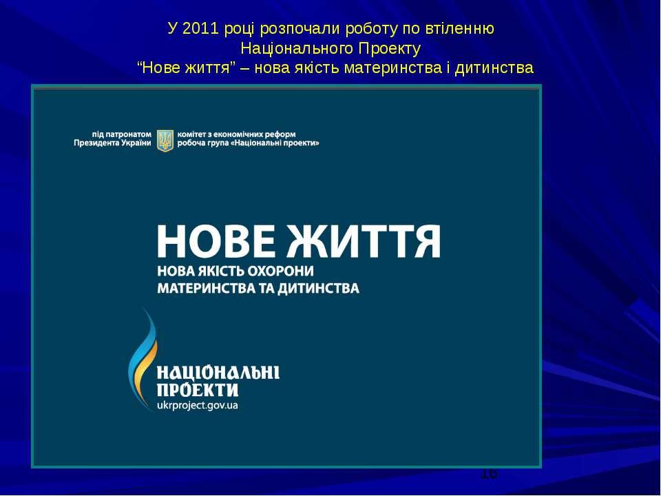 """У 2011 році розпочали роботу по втіленню Національного Проекту """"Нове життя"""" –..."""