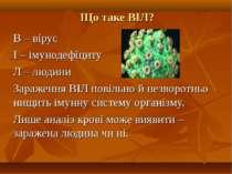 Що таке ВІЛ? В – вірус І – імунодефіциту Л – людини Зараження ВІЛ повільно й ...