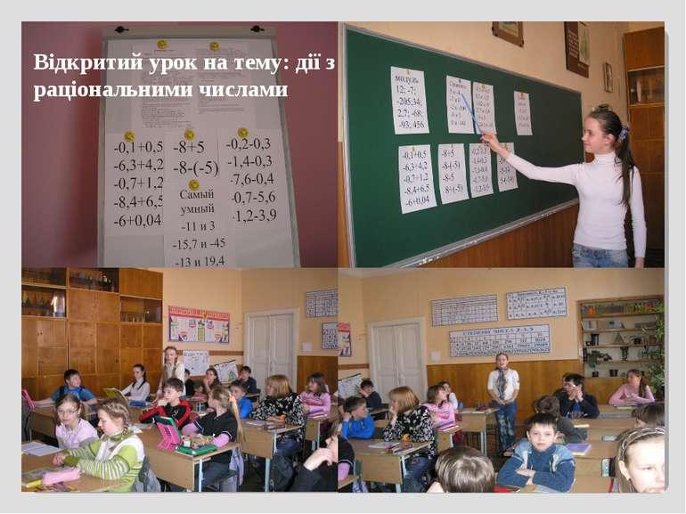 Відкритий урок на тему: дії з раціональними числами
