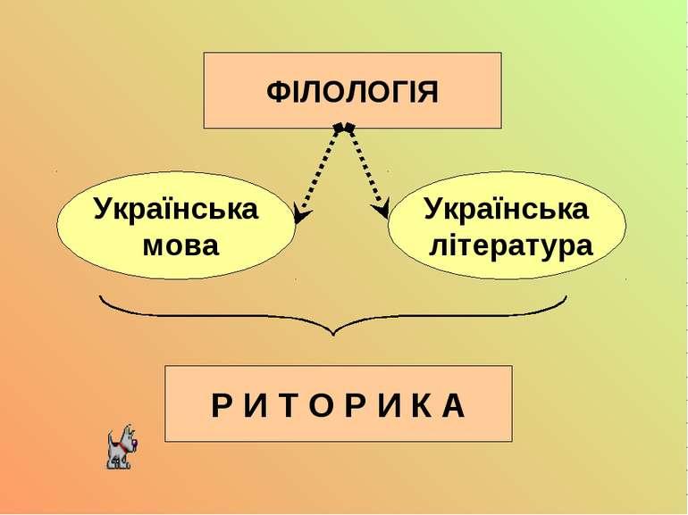 Українська мова ФІЛОЛОГІЯ Українська література Р И Т О Р И К А