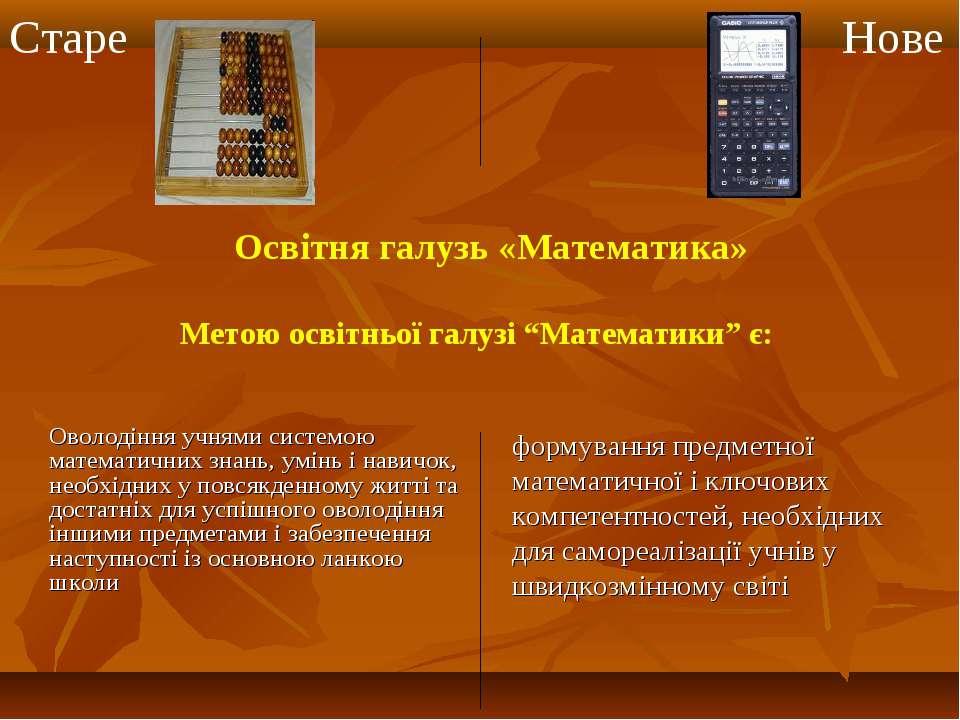 Оволодіння учнями системою математичних знань, умінь і навичок, необхідних у ...