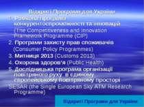 Відкриті Програми для України 1. Рамкова програма конкурентоспроможності та і...