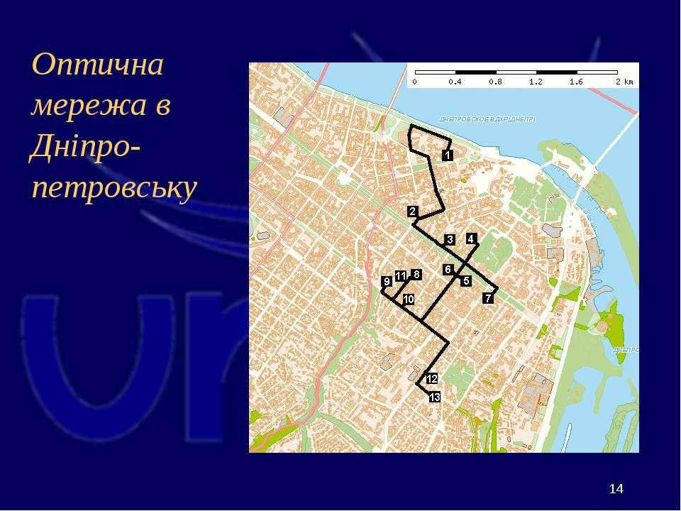 Оптична мережа в Дніпро-петровську