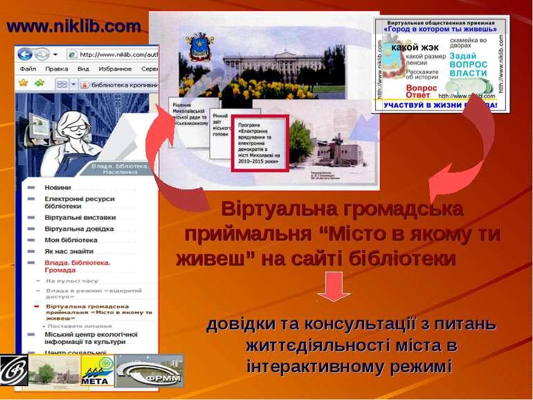 довідки та консультації з питань життєдіяльності міста в інтерактивному режим...