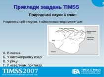 Приклади завдань TIMSS Природничі науки 4 клас: Роздивись цей рисунок. Найсол...