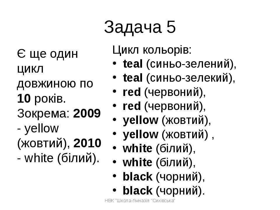 Цикл кольорів: teal (синьо-зелений), teal (синьо-зелекий), red (червоний), re...