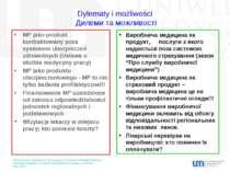 Dylematy i możliwości Дилеми та можливості MP jako produkt kontraktowany poza...