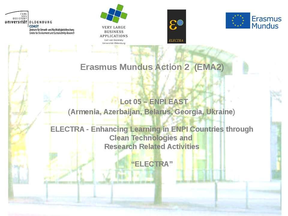Lot 05 – ENPI EAST(Armenia, Azerbaijan, Belarus, Georgia, Ukraine)ELECT...