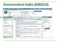 Environment Index (EBSCO) Acid rain