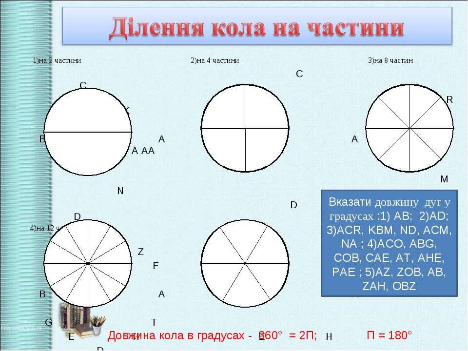 1)на 2 частини 2)на 4 частини 3)на 8 частин С С R K В А В А В A AА M N D D 4)...