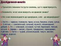 Дослідження-аналіз 1.Прочитати іменники та групи означень, що їх характеризую...