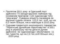 Протягом 2011 року в Одеський порт здійснено 73 заходи круїзних лайнерів під ...