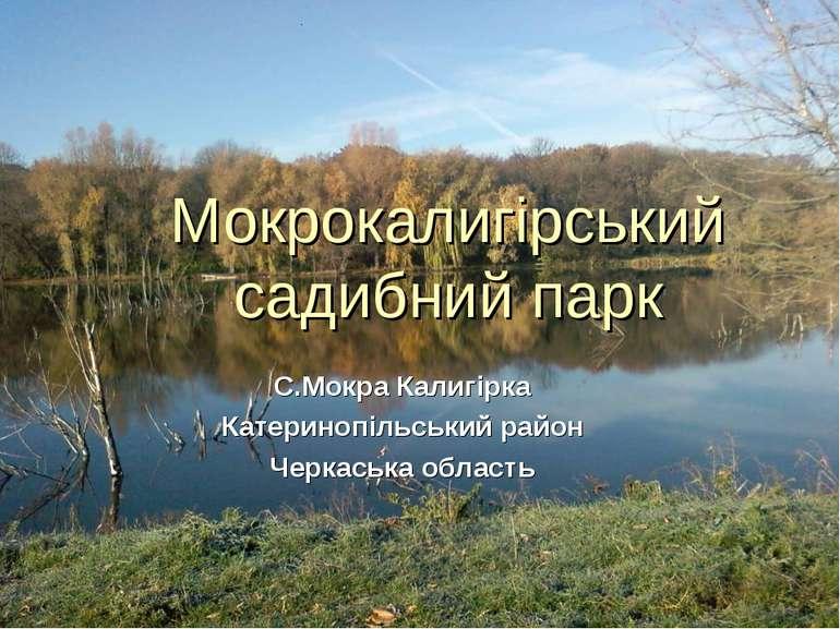 Мокрокалигірський садибний парк С.Мокра Калигірка Катеринопільський район Чер...