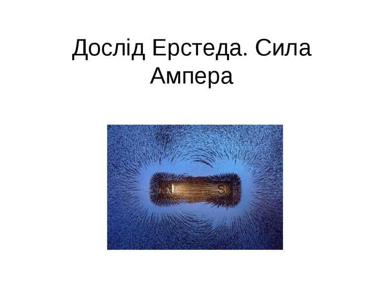 Дослід Ерстеда. Сила Ампера