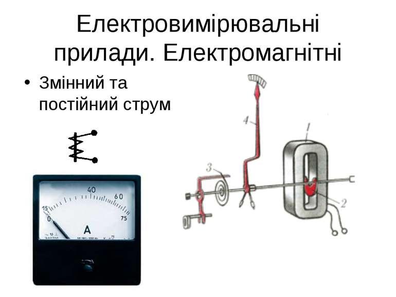 Електровимірювальні прилади. Електромагнітні Змінний та постійний струм