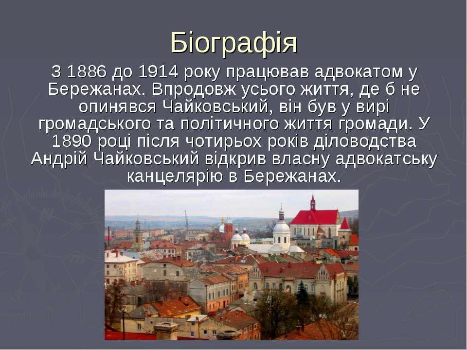 Біографія З 1886 до 1914 року працював адвокатом у Бережанах. Впродовж усього...