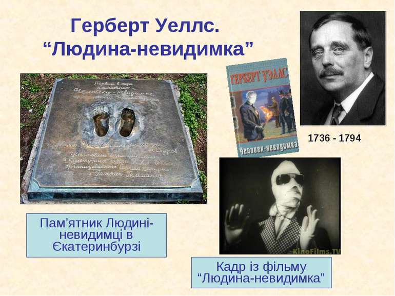 """Герберт Уеллс. """"Людина-невидимка"""" Пам'ятник Людині-невидимці в Єкатеринбурзі ..."""