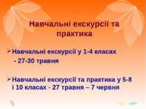 Навчальні екскурсії та практика Навчальні екскурсії у 1-4 класах - 27-30 трав...