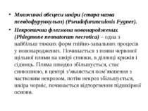 Множинні абсцеси шкіри (стара назва псевдофурункульоз) (Pseudofurunculosis Fy...
