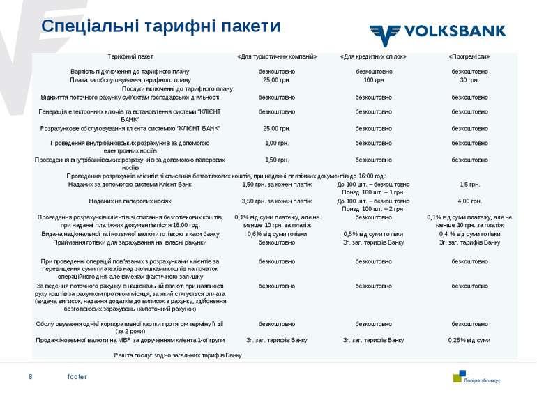 footer * Спеціальні тарифні пакети Тарифний пакет «Для туристичних компаній» ...