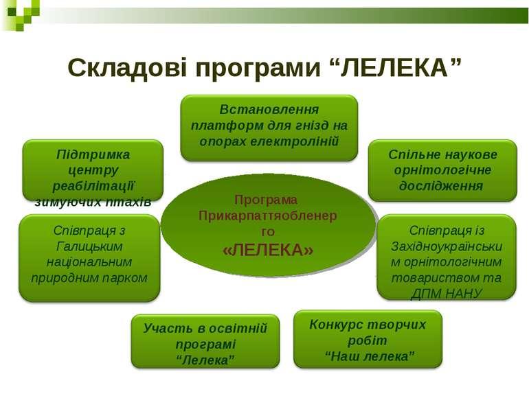 "Складові програми ""ЛЕЛЕКА"" Програма Прикарпаттяобленерго «ЛЕЛЕКА»"