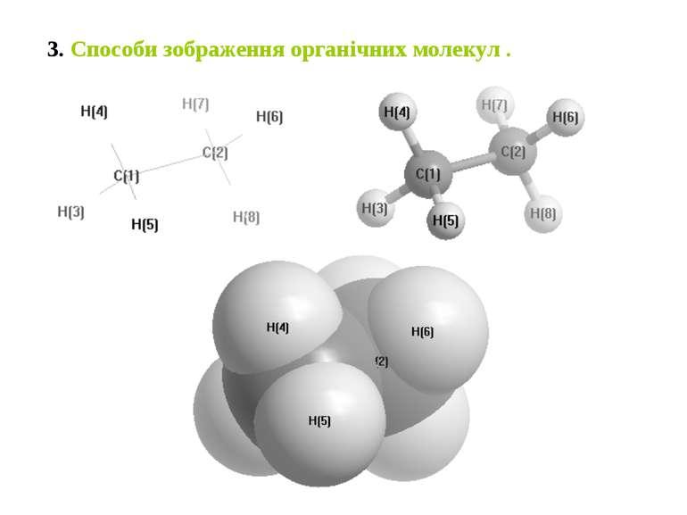 3. Способи зображення органічних молекул .