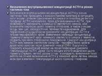 Визначення внутрішньовенної концентрації АСТН в різних частинах тіла Визначен...