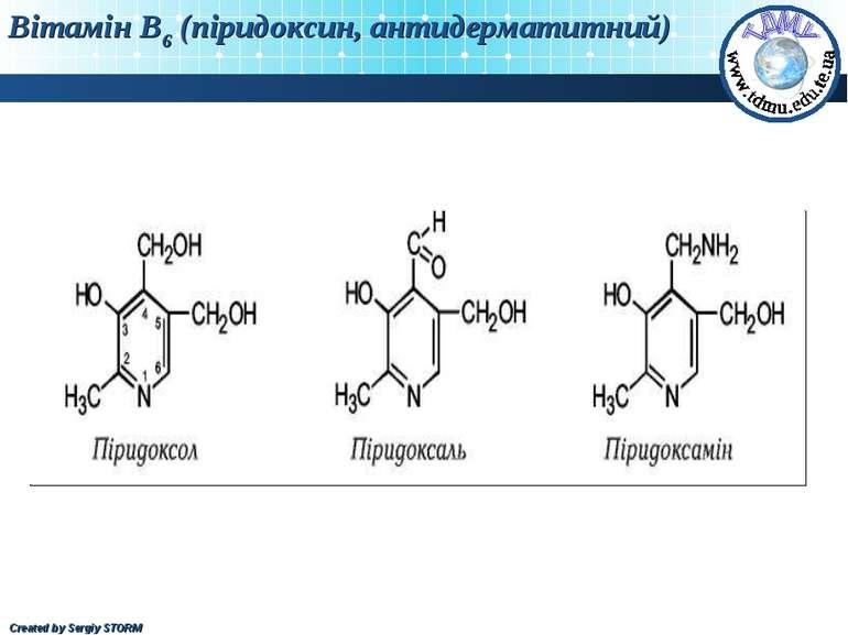 Вітамін В6 (піридоксин, антидерматитний) Created by Sergiy STORM