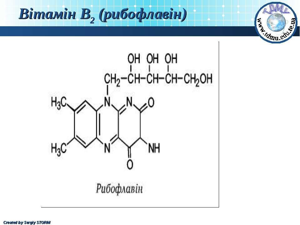 Вітамін В2 (рибофлавін) Created by Sergiy STORM