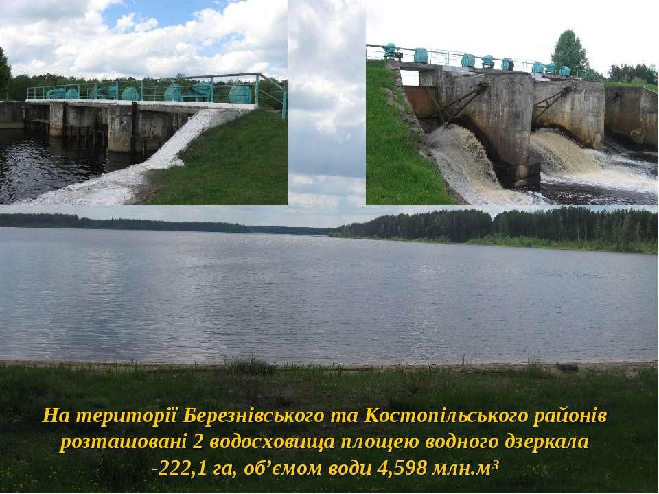 На території Березнівського та Костопільського районів розташовані 2 водосхов...