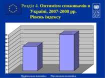 Розділ 4. Оптимізм споживачів в Україні, 2007-2008 рр. Рівень індексу Націона...