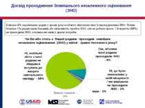 Досвід проходження Зовнішнього незалежного оцінювання (ЗНО) Близько 8% україн...
