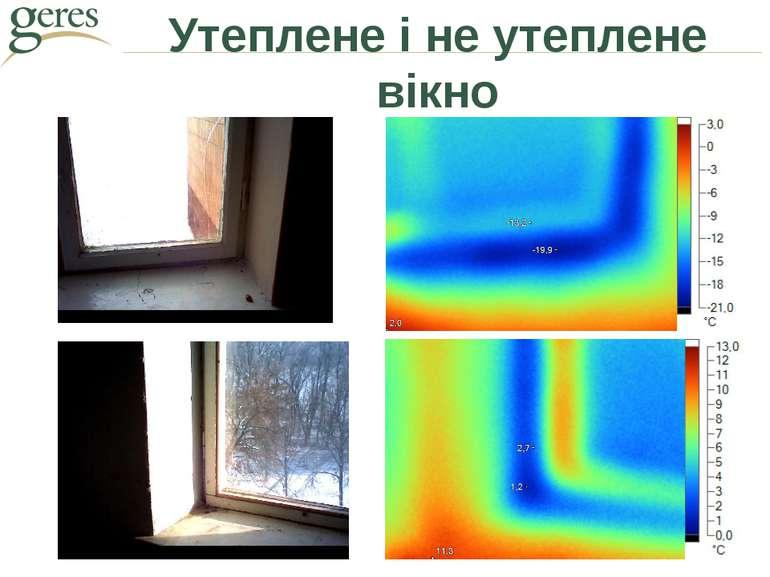 Утеплене і не утеплене вікно