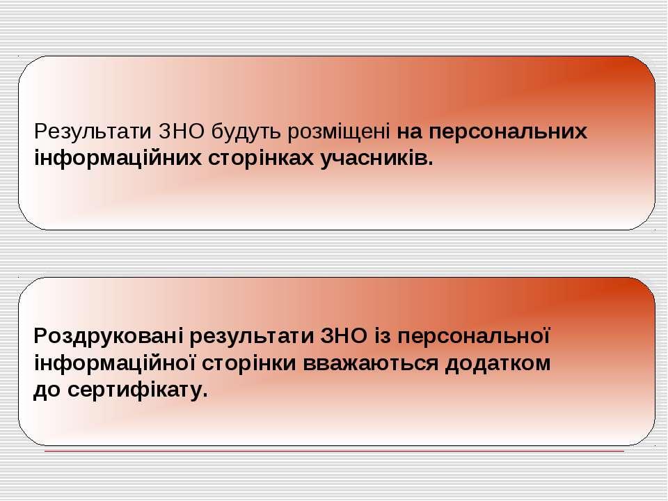 Результати ЗНО будуть розміщені на персональних інформаційних сторінках уча...