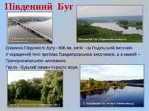 Південний Буг Довжина Південного Бугу - 806 км, витік - на Подільській височи...