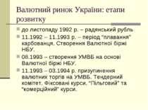 Валютний ринок України: етапи розвитку до листопаду 1992 р. – радянський рубл...