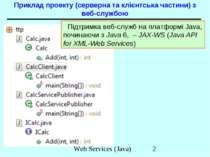 Приклад проекту (серверна та клієнтська частини) з веб-службою Підтримка веб-...